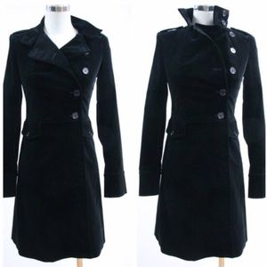Theory Alanis Black Velvet Silk Lined Coat XS P